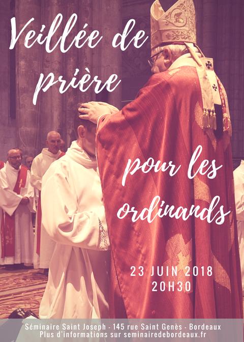 Ordinations 2018 - veillée de prière - portrait